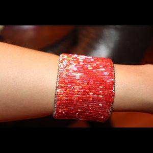 Coral Red beaded Bracelet